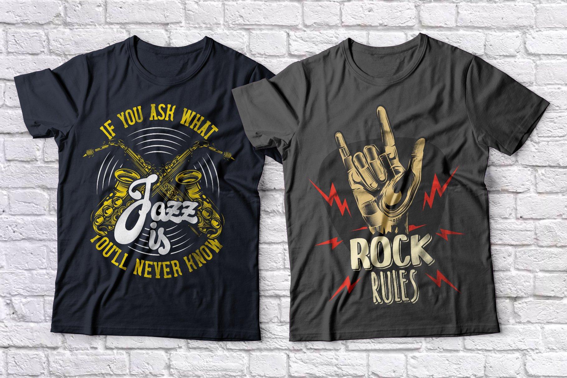 Music t-shirts set example image 4