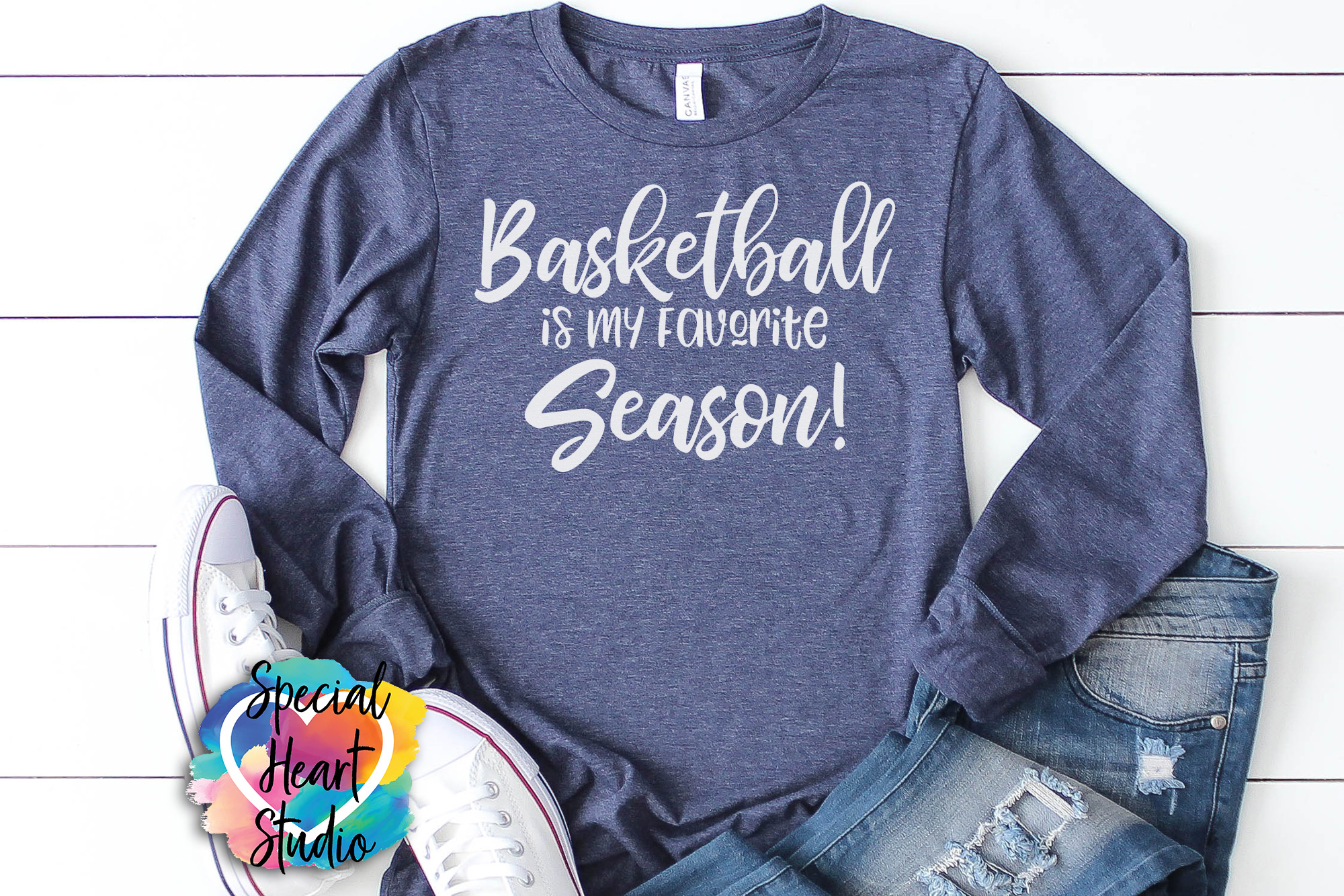 Basketball Is My Favorite Season - A Basketball SVG Cut File example image 1