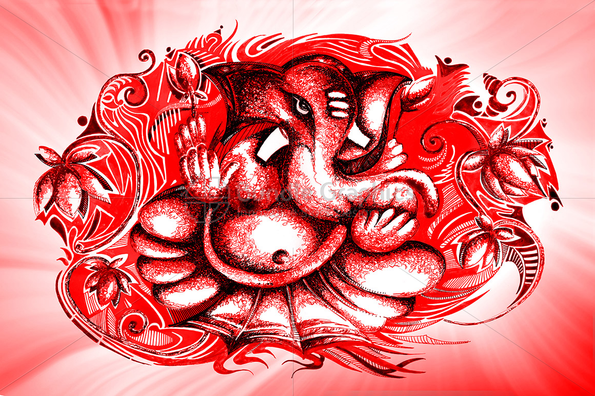 Lord Ganesha -  Ink Graphic example image 1