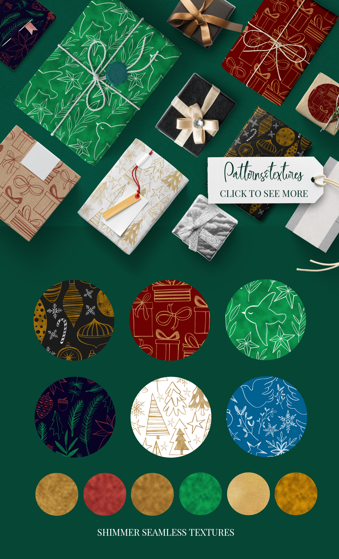Christmas palette brushpack example image 4
