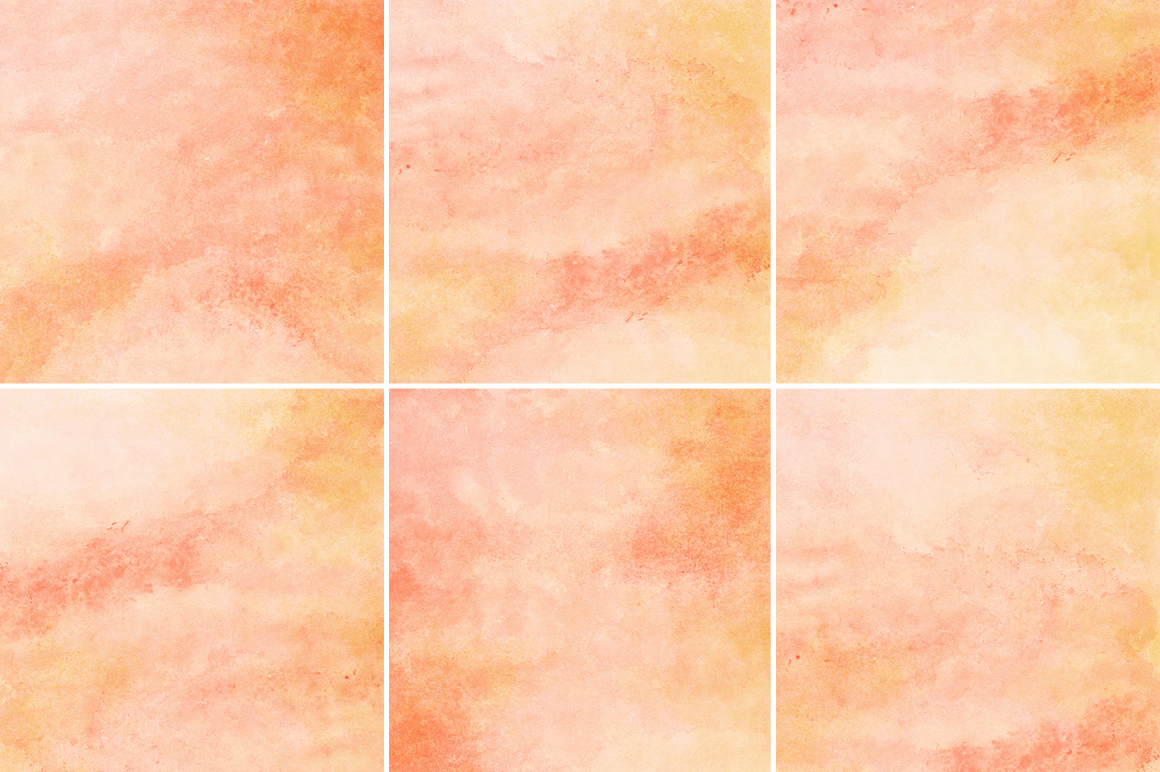 Peach and Orange Watercolor Texture Backgrounds example image 2
