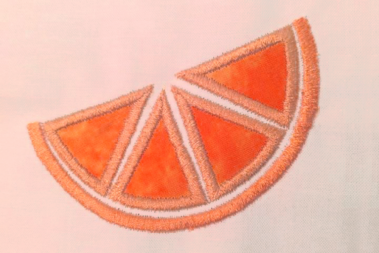 Citrus Slice Applique Embroidery Design example image 5