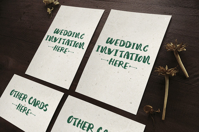 Wedding Invitation Mockup example image 2