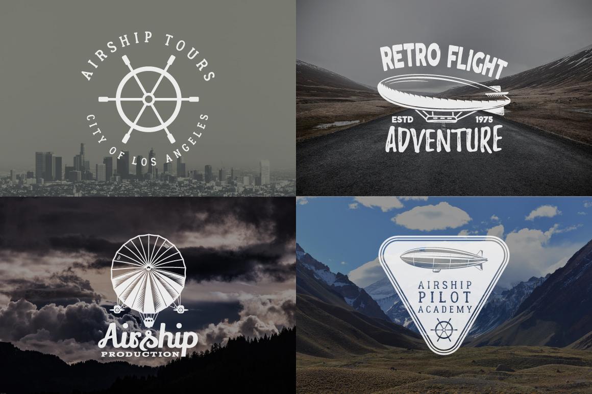 Airship Badges & Design Elements example image 5