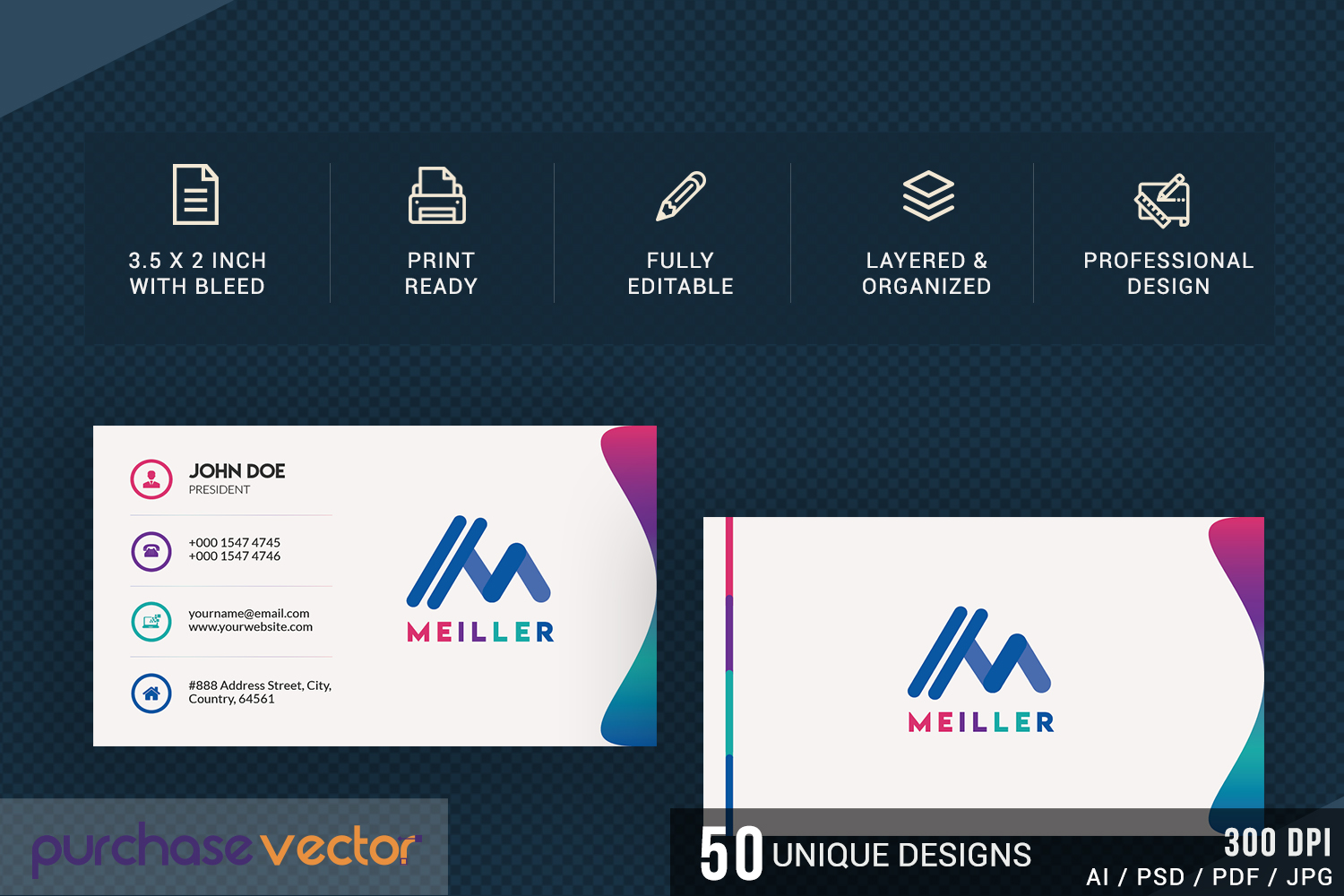 Professional Business Cards Templates example image 3