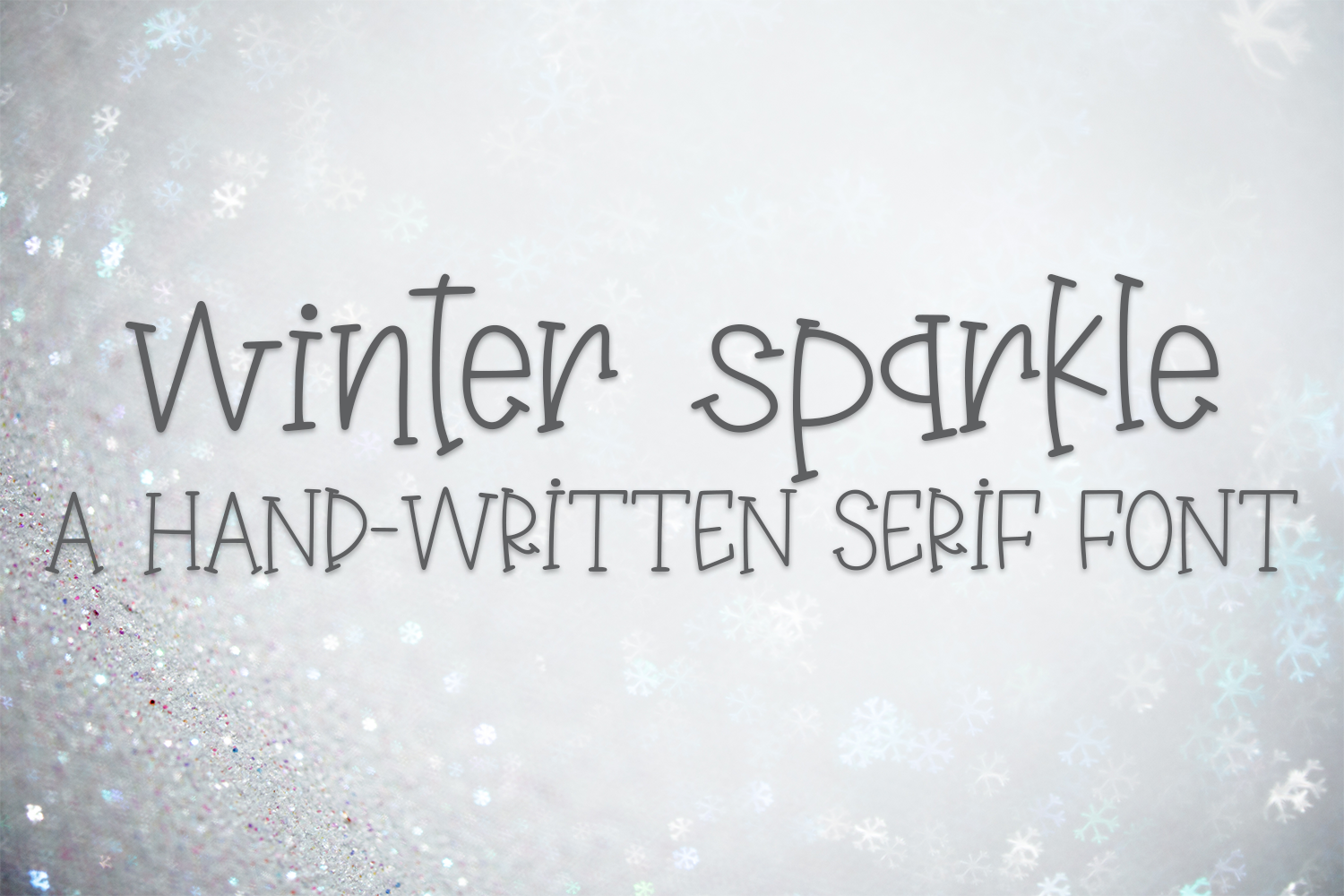 Winter Sparkle - A Hand-Written Serif Font example image 1