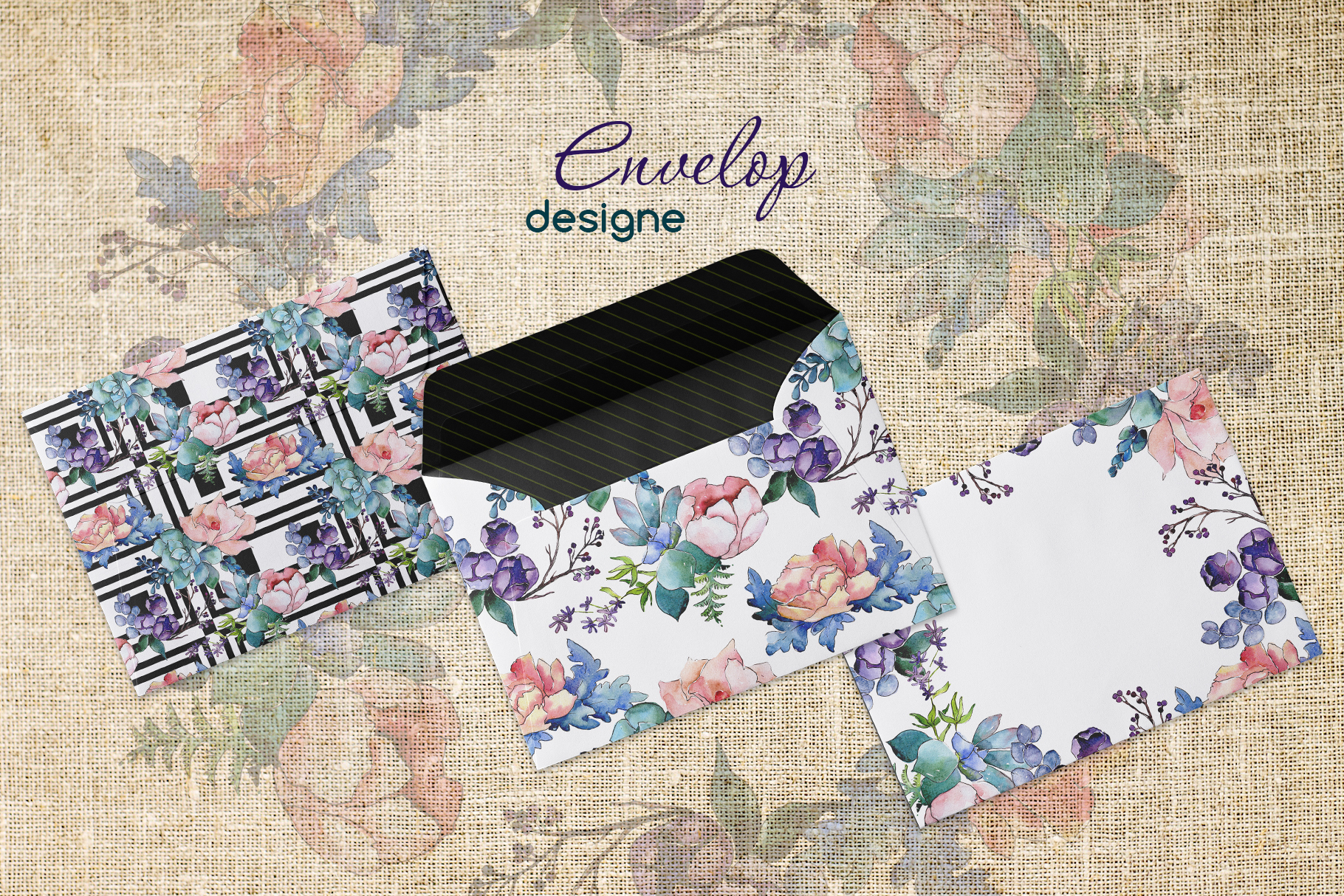 Watercolor bouquet PNG flower set example image 4