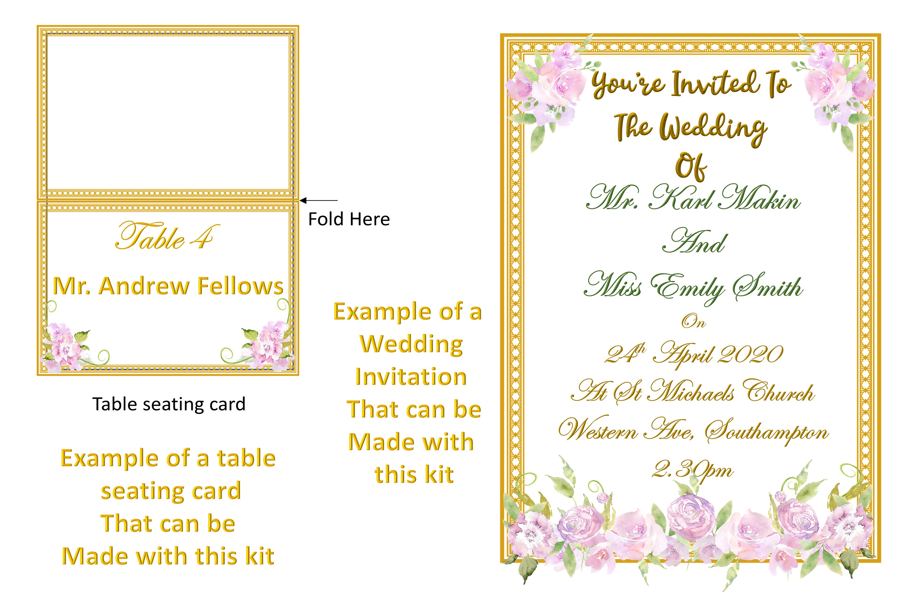 Water colour Wedding Flowers CLipart Kit Commercial Use example image 6