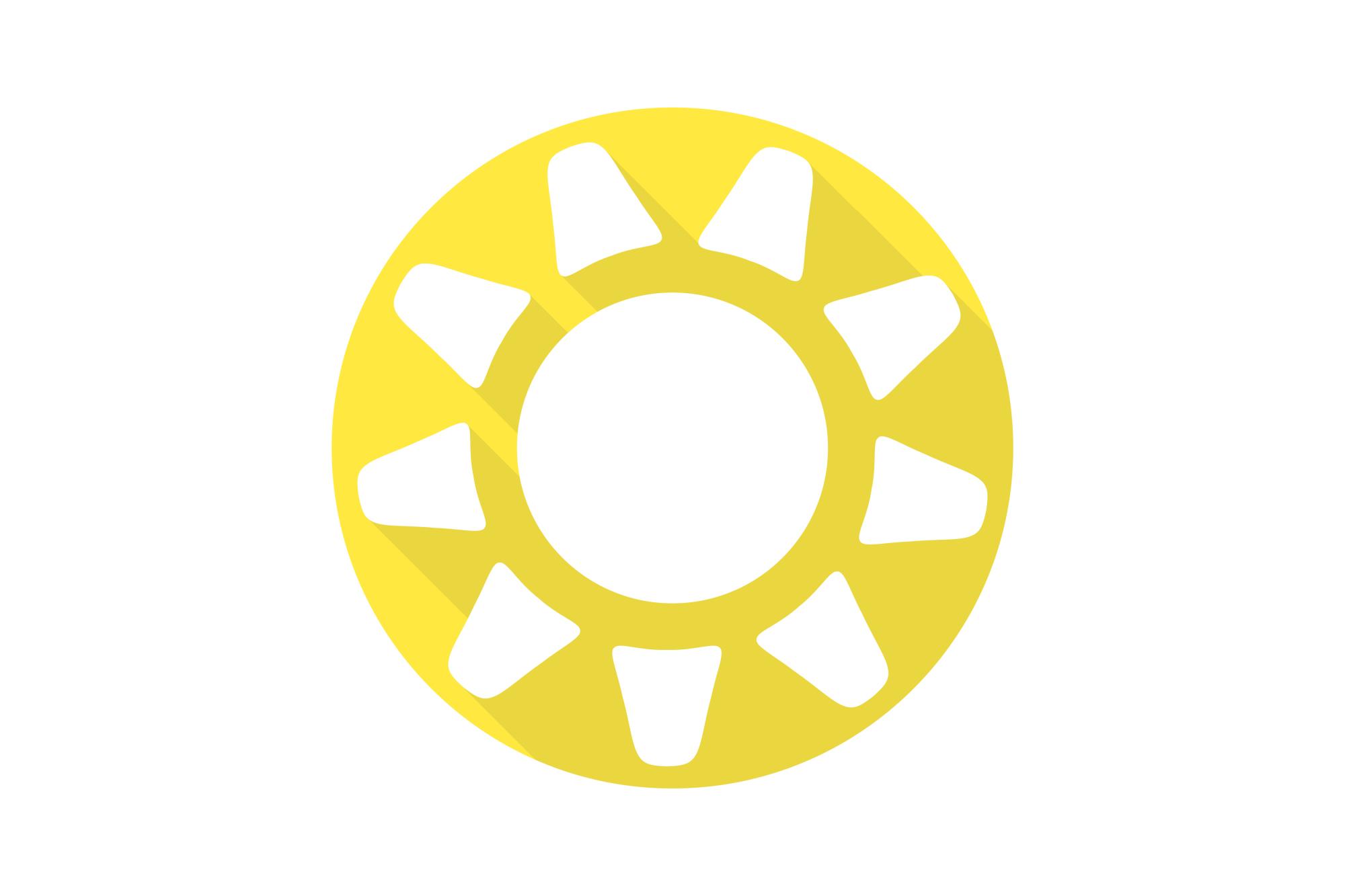 Vector sun icons set. Flat design. example image 12