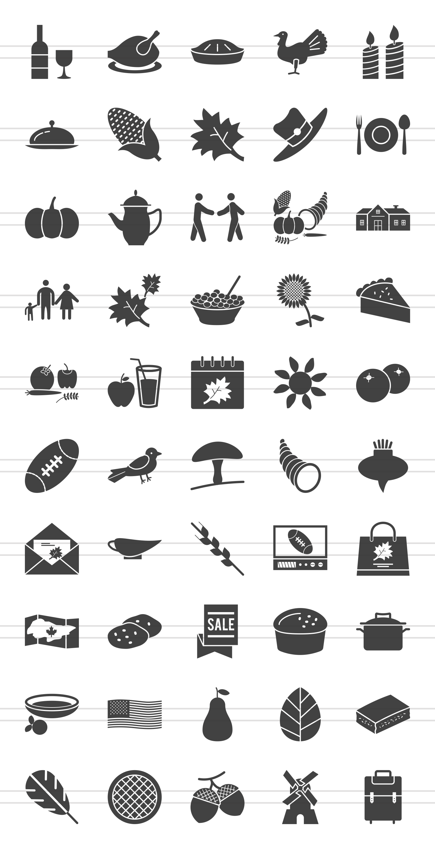 50 Thanksgiving Glyph Icons example image 2