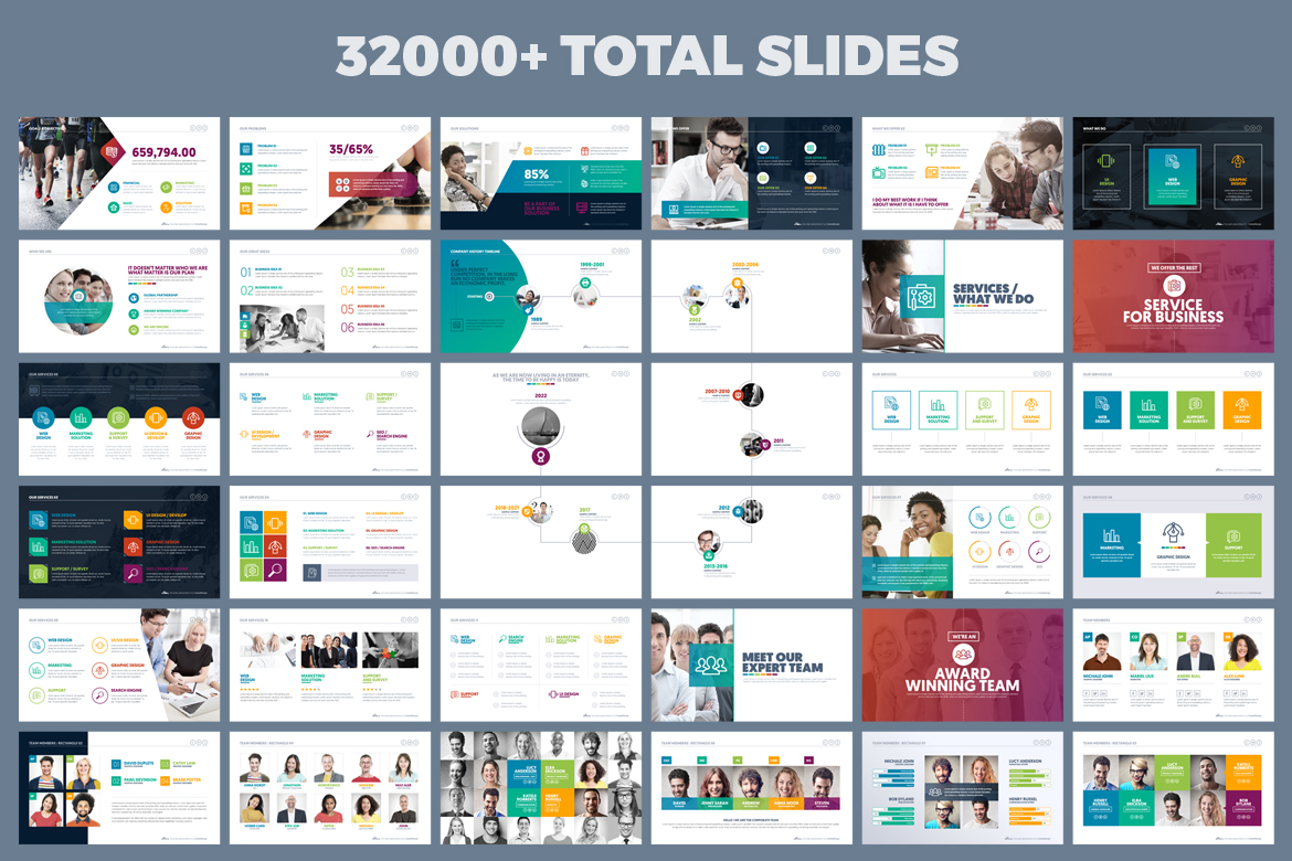 PowerPoint Presentation Template example image 3
