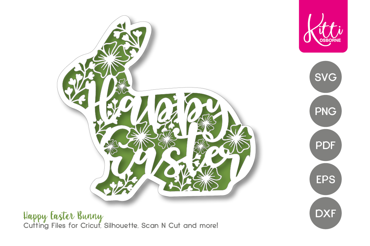 Happy Easter Papercut Frame example image 1