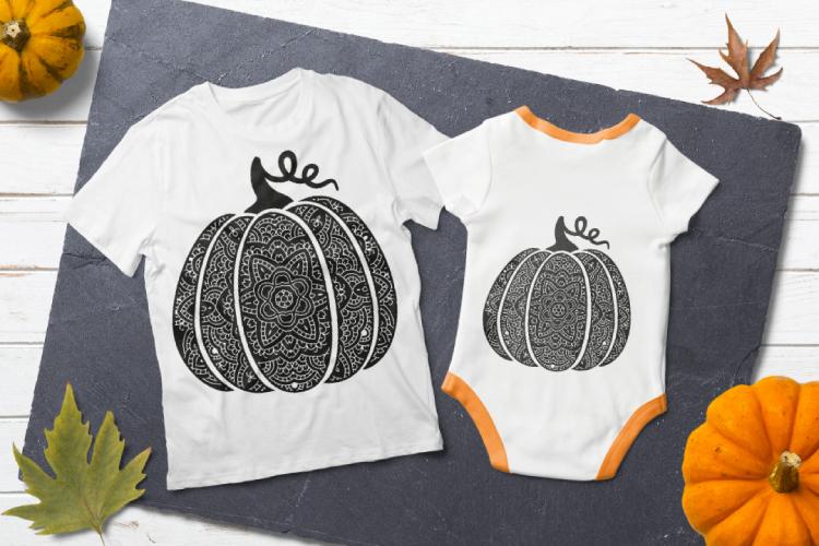 Bohemian pumpkin svg. Fancy pumpkin example image 4