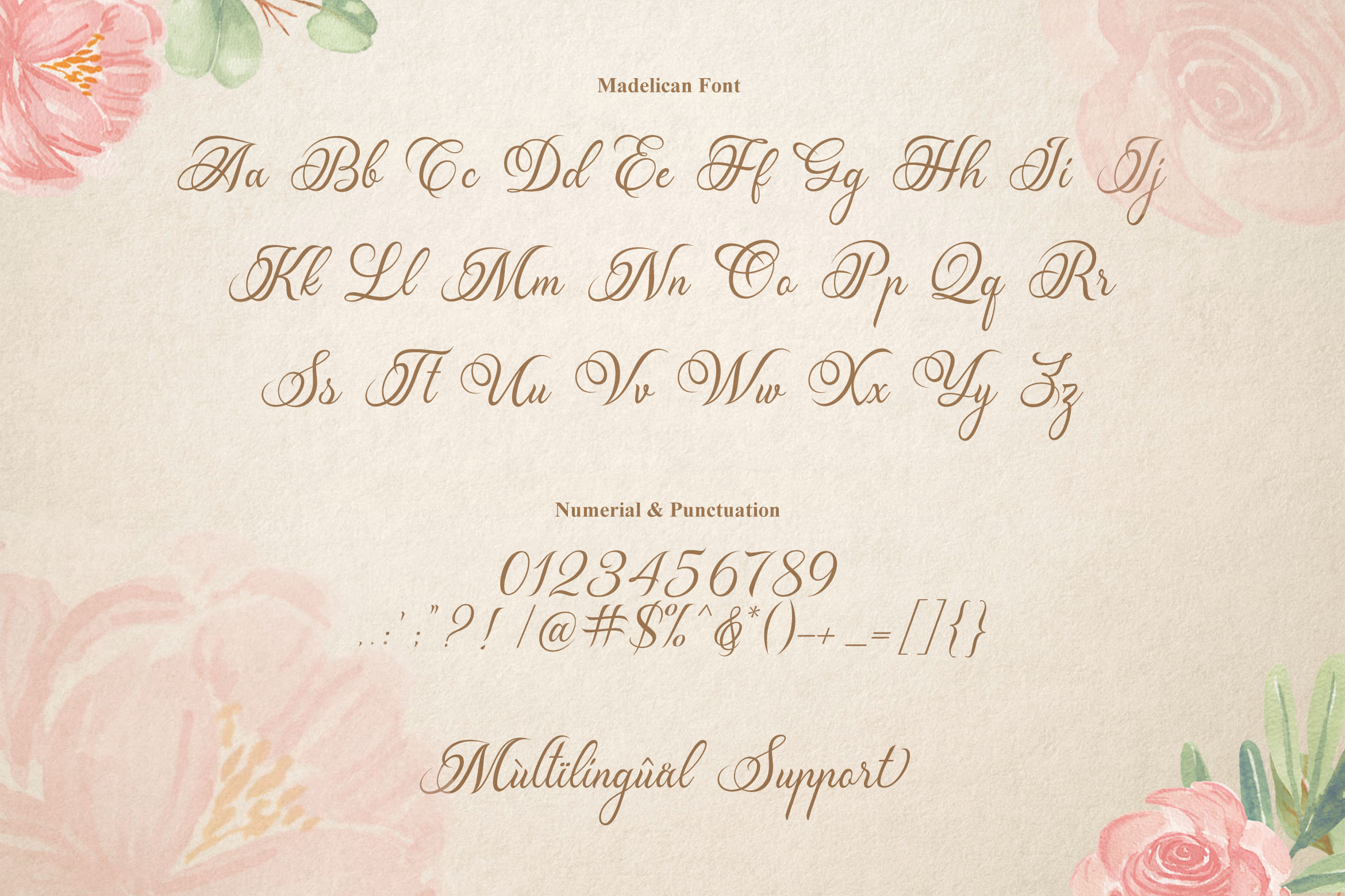 Madelican Calligraphy Font example image 3