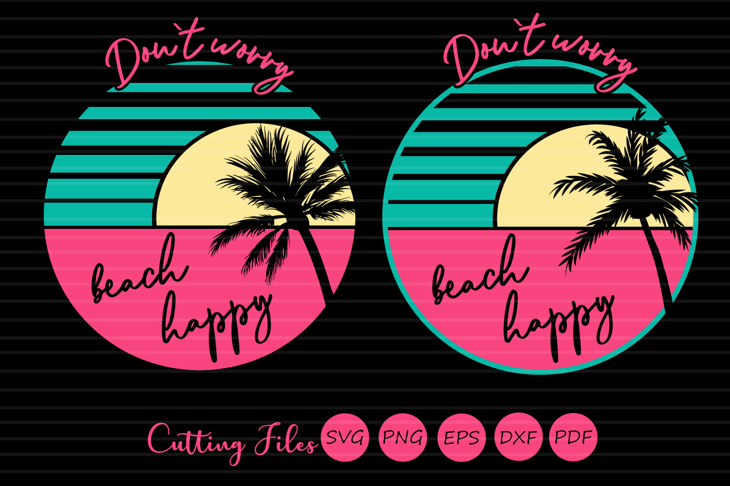 Dont worry beach happy | SVG Cut file | Summer | beach quote example image 1