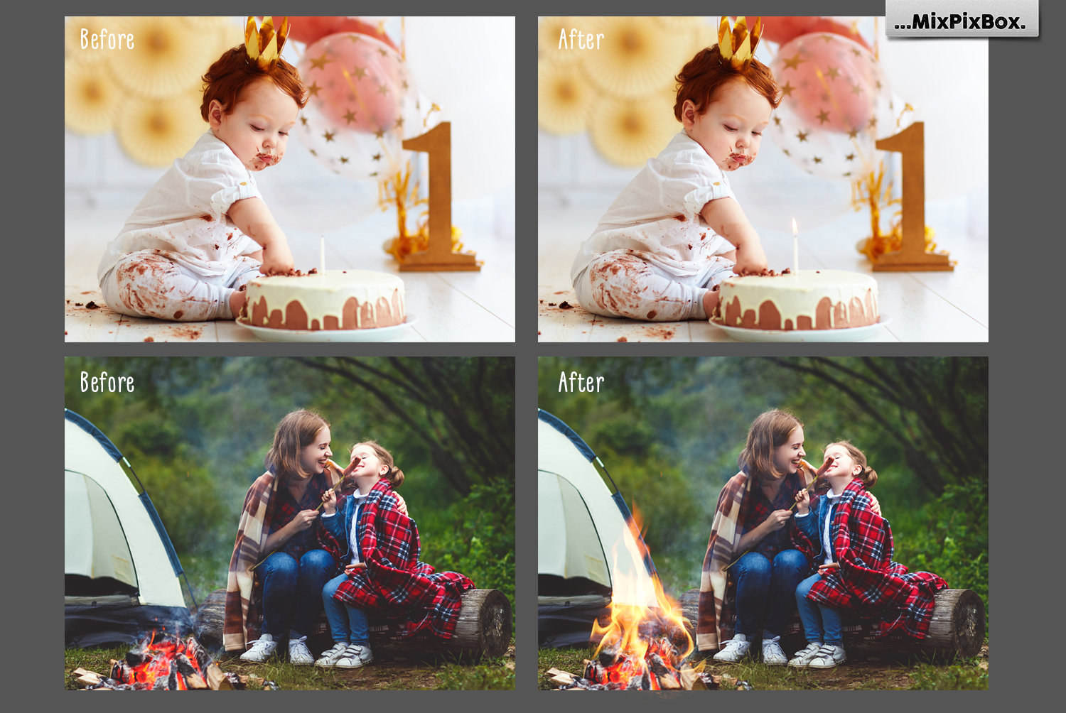 Fire Photo Overlays example image 2