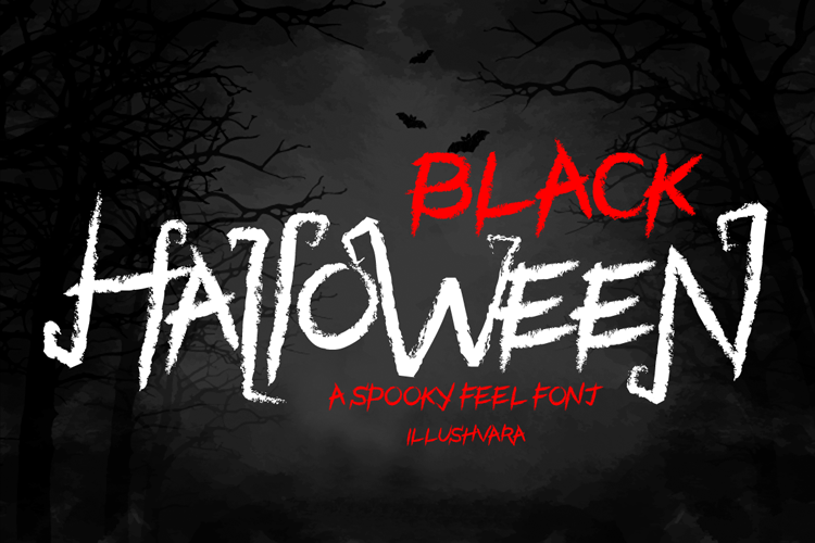 Black Halloween - Spooky Font example image 1