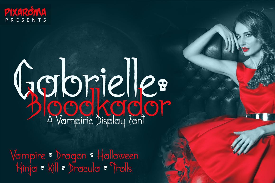 Gabrielle Bloodkador Halloween Font example image 1