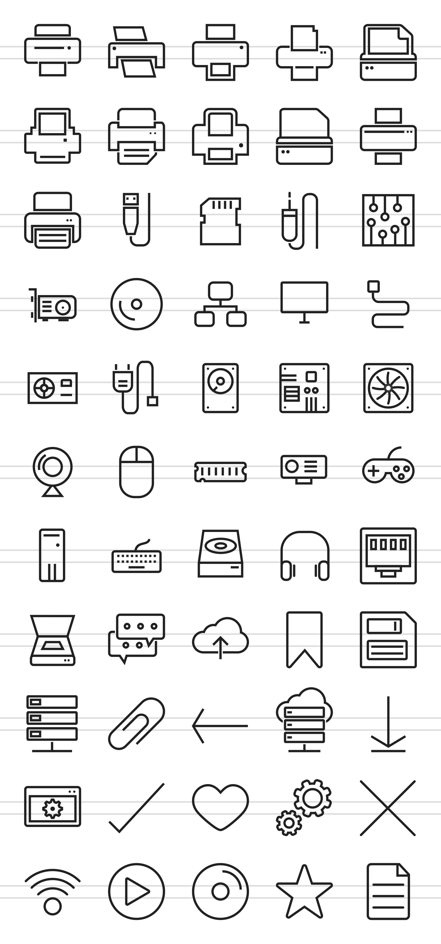 85 Computer & Hardware Line Icons example image 2