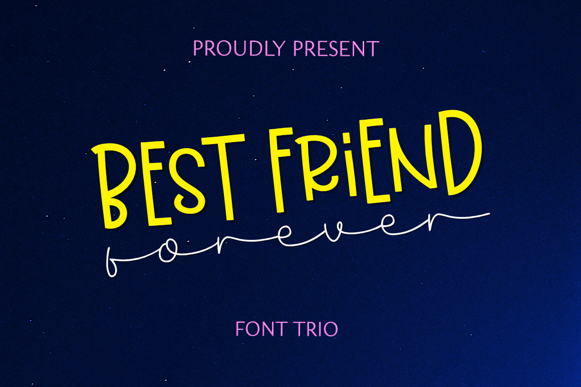Best Friend Forever- A Casual & Playful Font Trio. example image 4