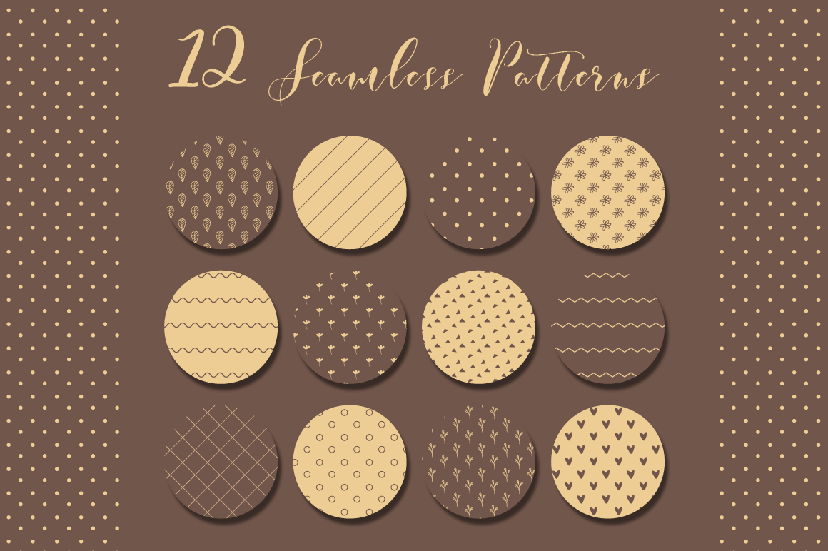 Simple Brown Seamless Pattern example image 2