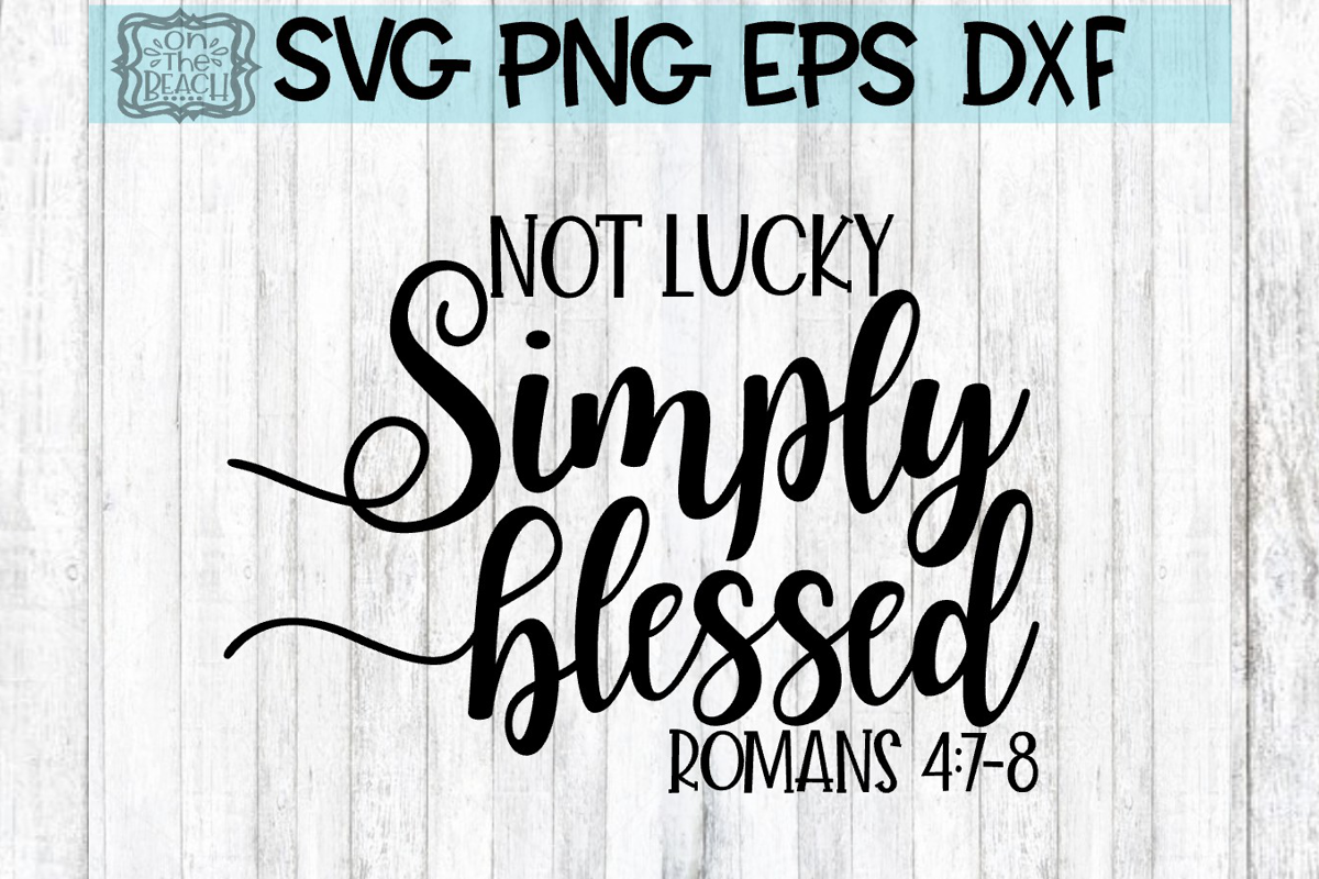 Simply Blessed Romans SVG PNG DXF EPS example image 1