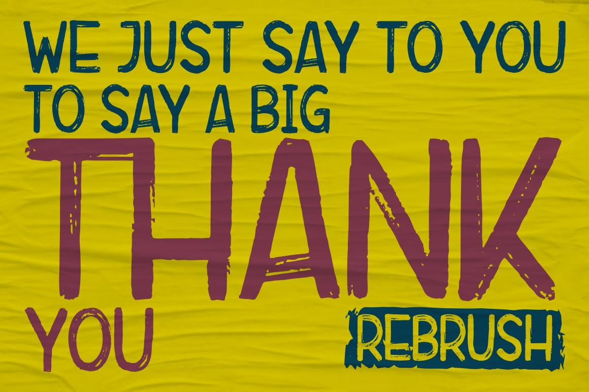 Rebrush Typeface example image 8