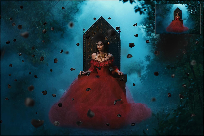 5K Black Rose Petals Overlays example image 3