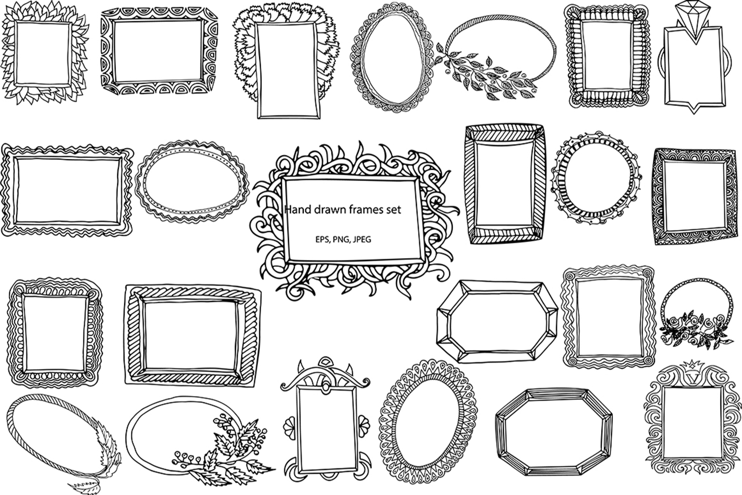 Hand-drawn frames collection example image 2