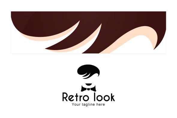 Retro Look - Mens Saloon Stock Logo Template example image 3