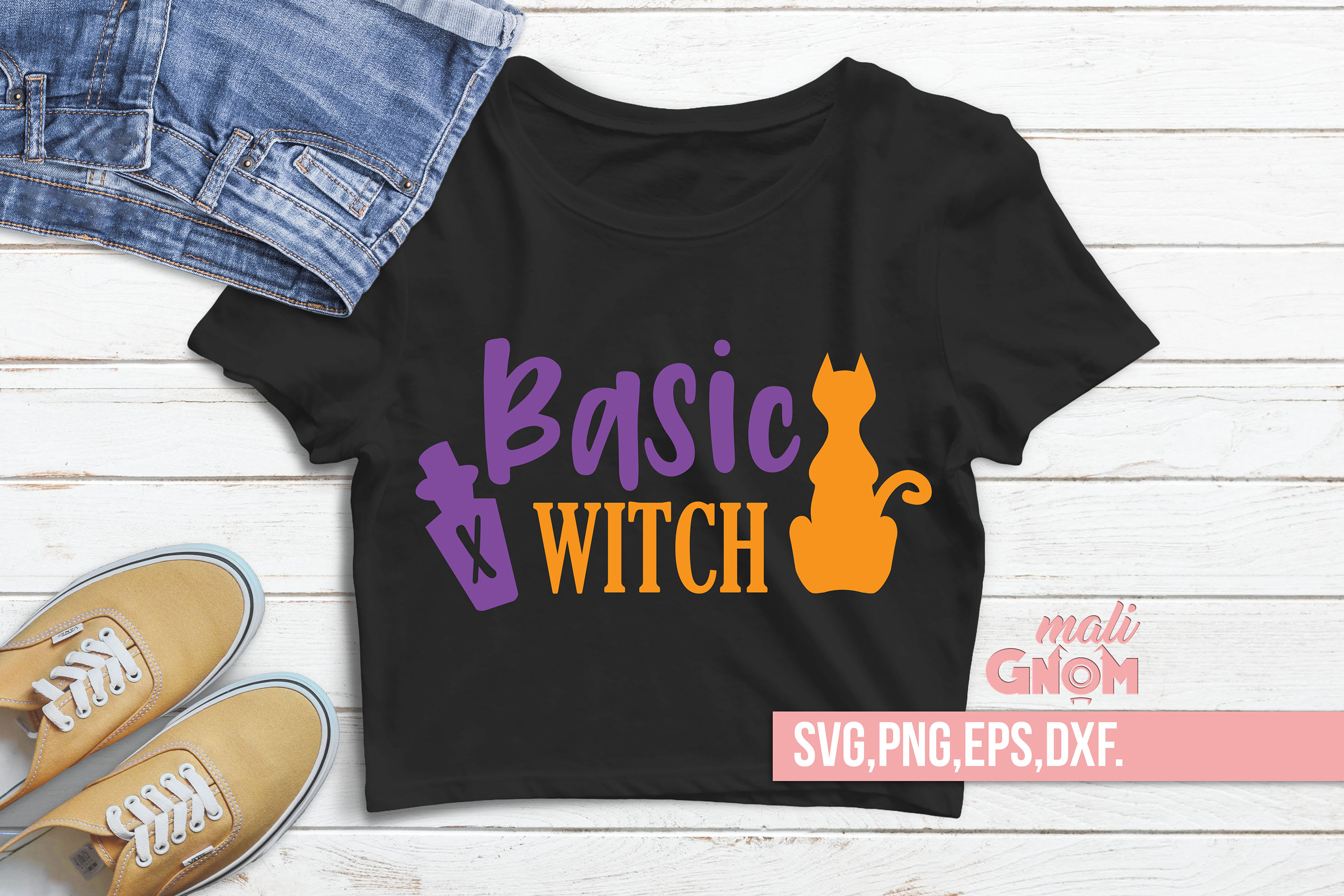 Basic Witch SVG, Witch svg, Halloween SVG file, Trick or Tre example image 2