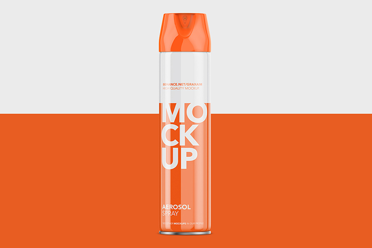 Aerosol Spray Glossy - Front Mockup Tall example image 2