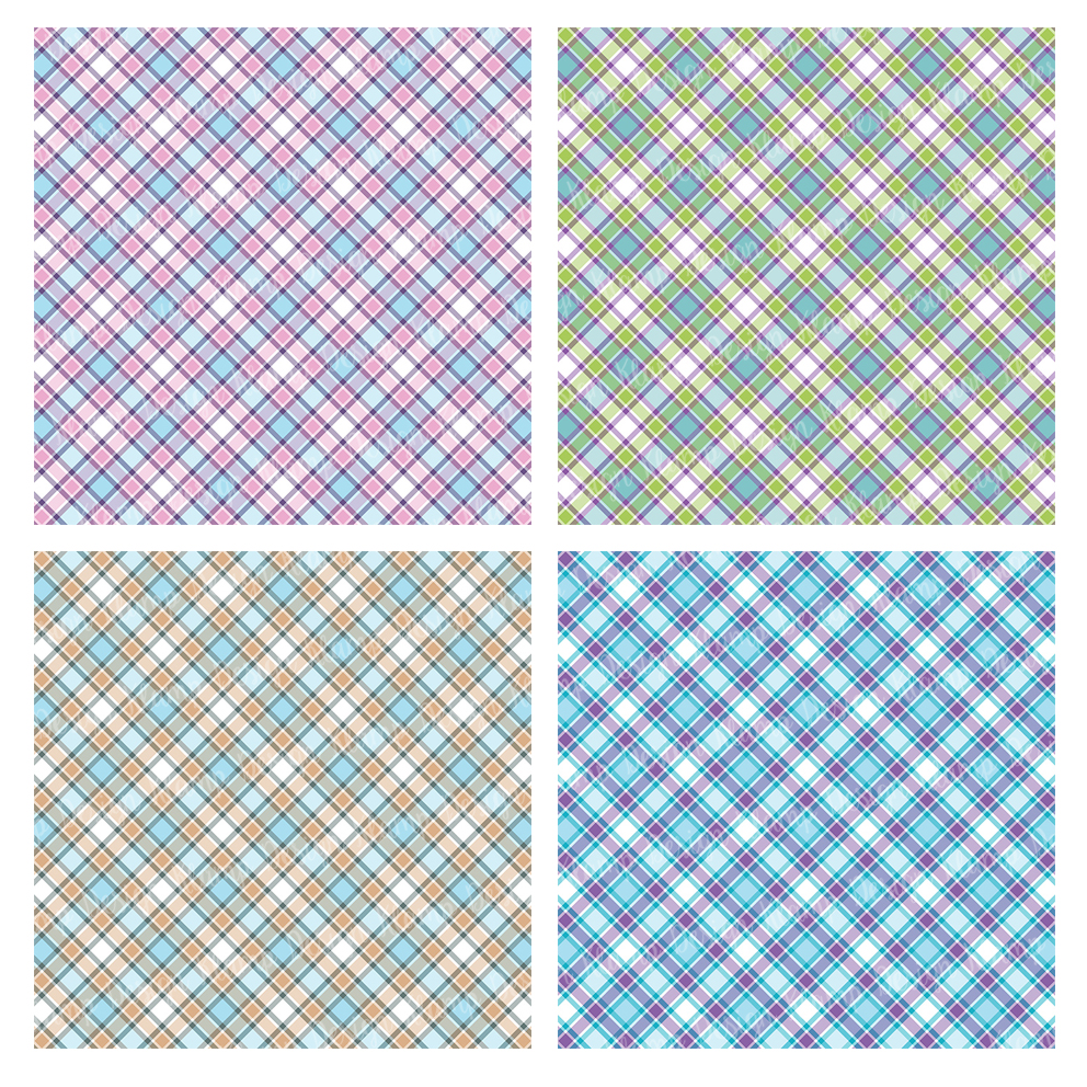 graphic about Printable Patterned Paper called Plaid Electronic Paper Pack Backgrounds Sbooking Behaviors Printables Card Developing