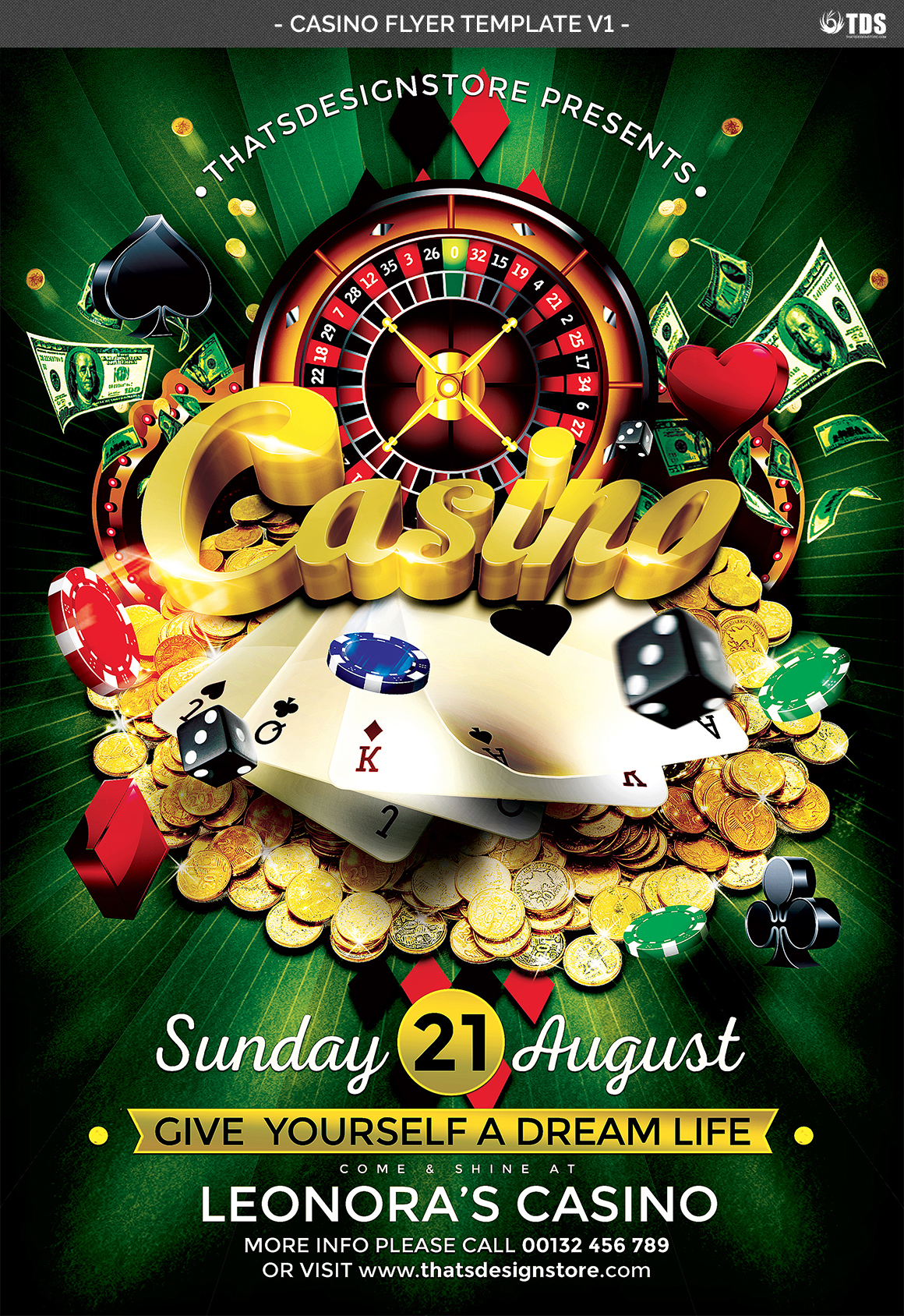 Casino Flyer Template V1 example image 4