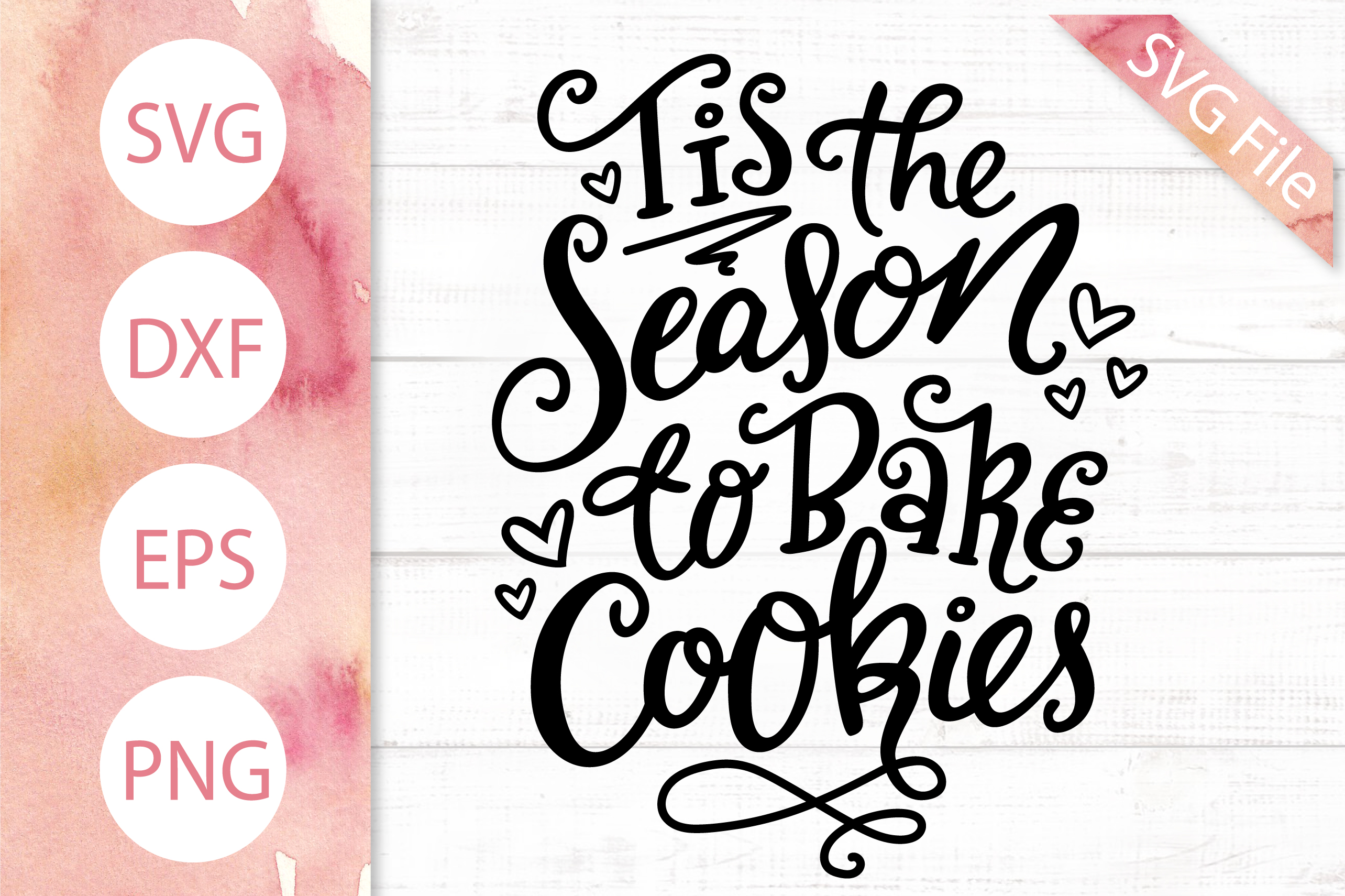 Christmas Baking SVG Bundle! 7 Cute Holiday Quote Designs example image 7