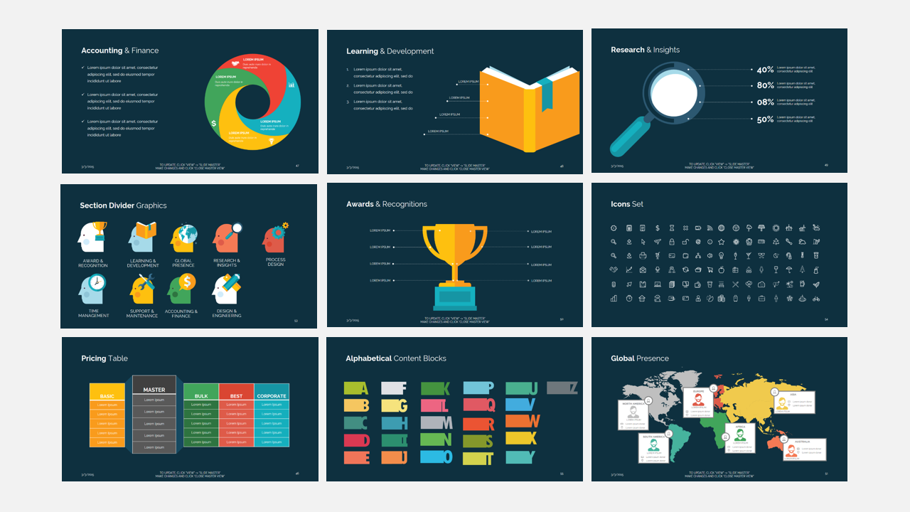 think business presentation template| design bundles, Presentation templates