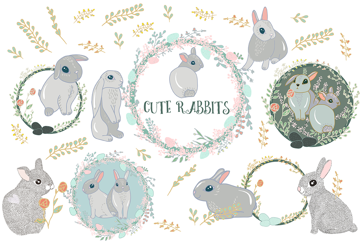 Cute Rabbits example image 6
