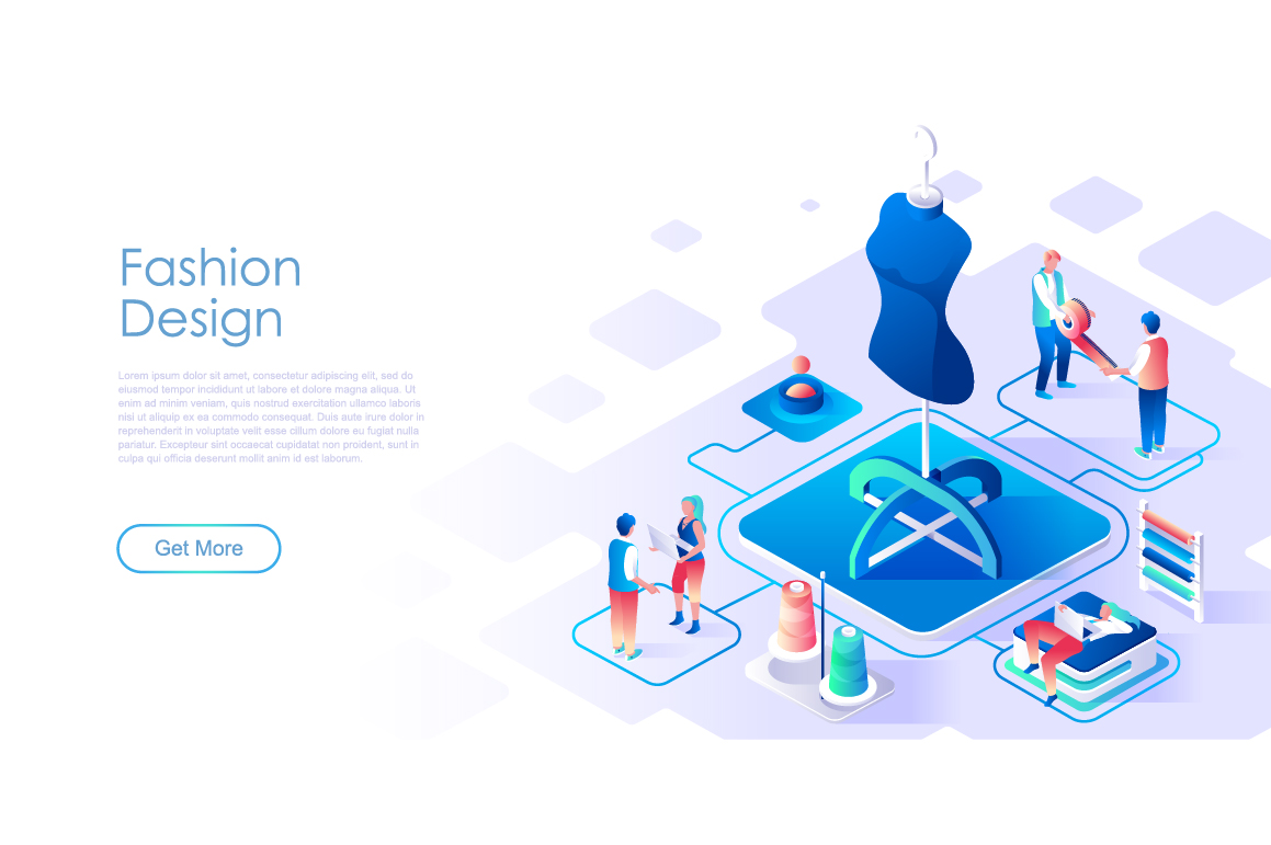 Bundle Isometric Landing Page Template Header example image 7