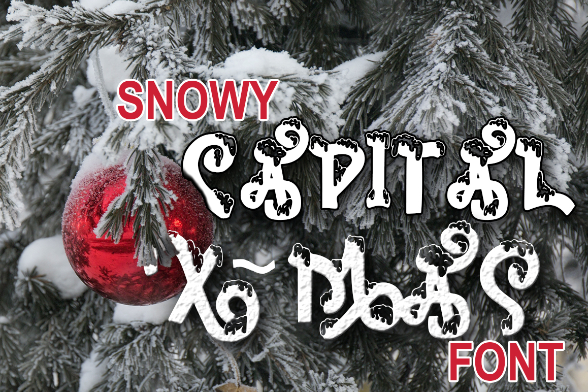 Snow-covered display font example image 6