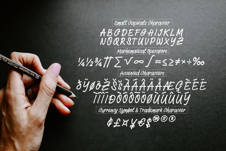Withdrew - Modern Script example image 3