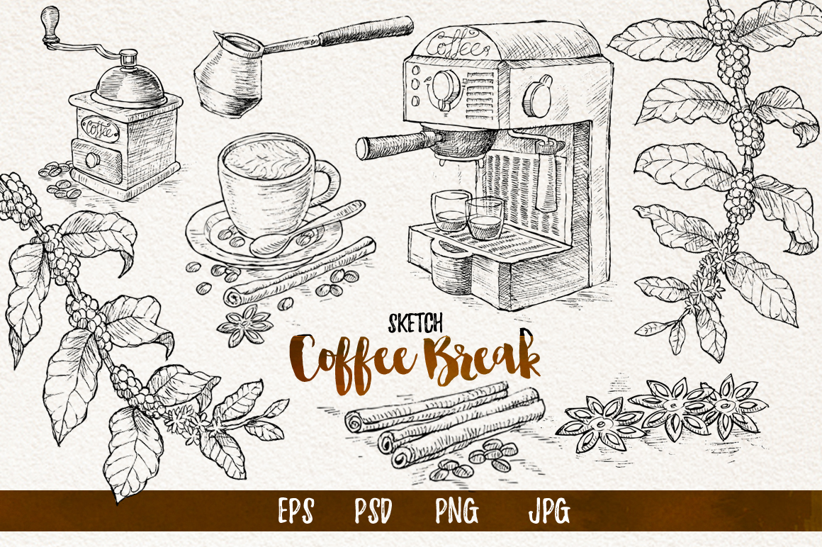 Watercolor Coffee Break example image 3