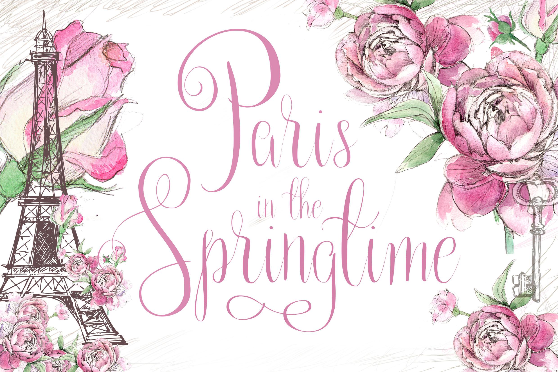 Paris in the Springtime Script Font example image 1