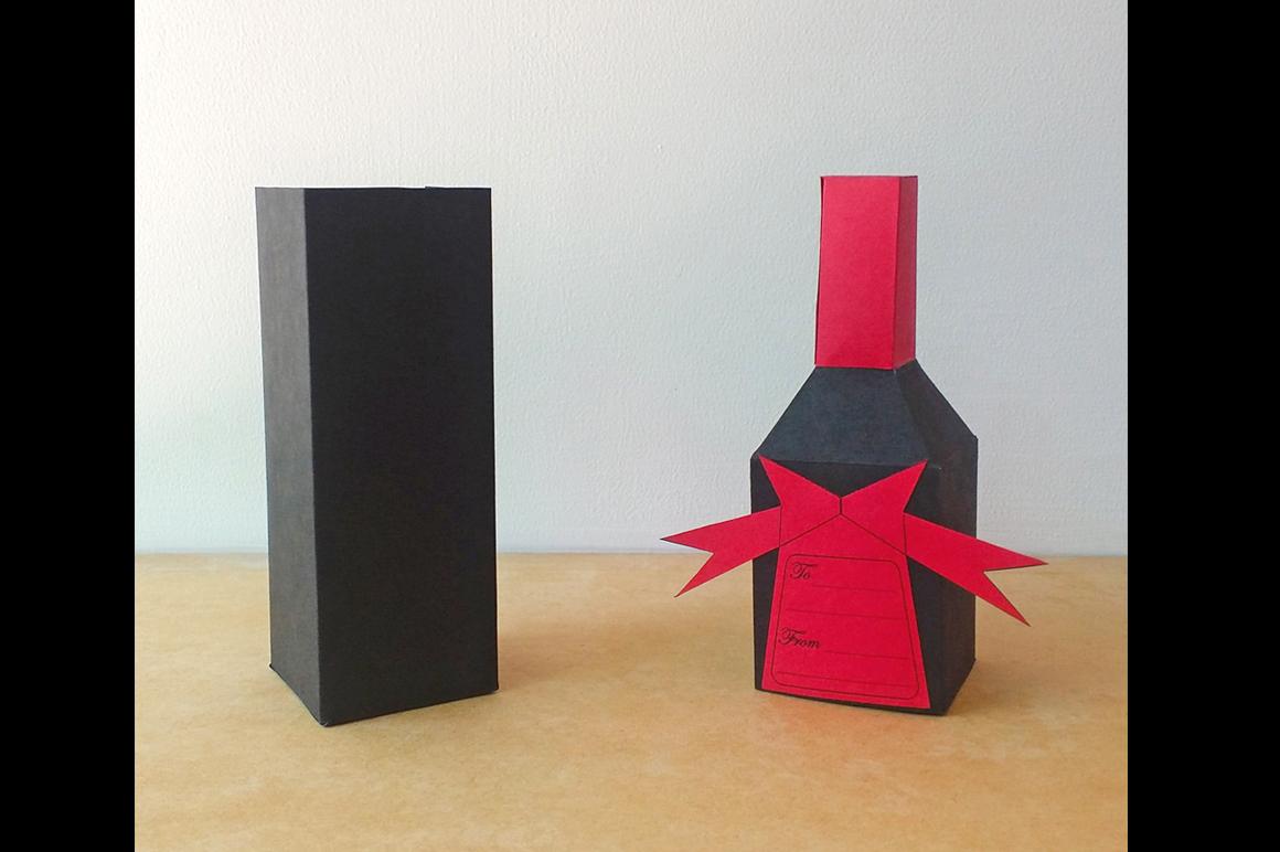 DIY Bottle favor - 3d papercraft example image 3