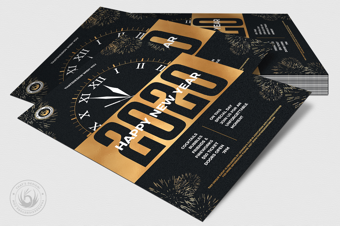 New Year Flyer Template V10 example image 4