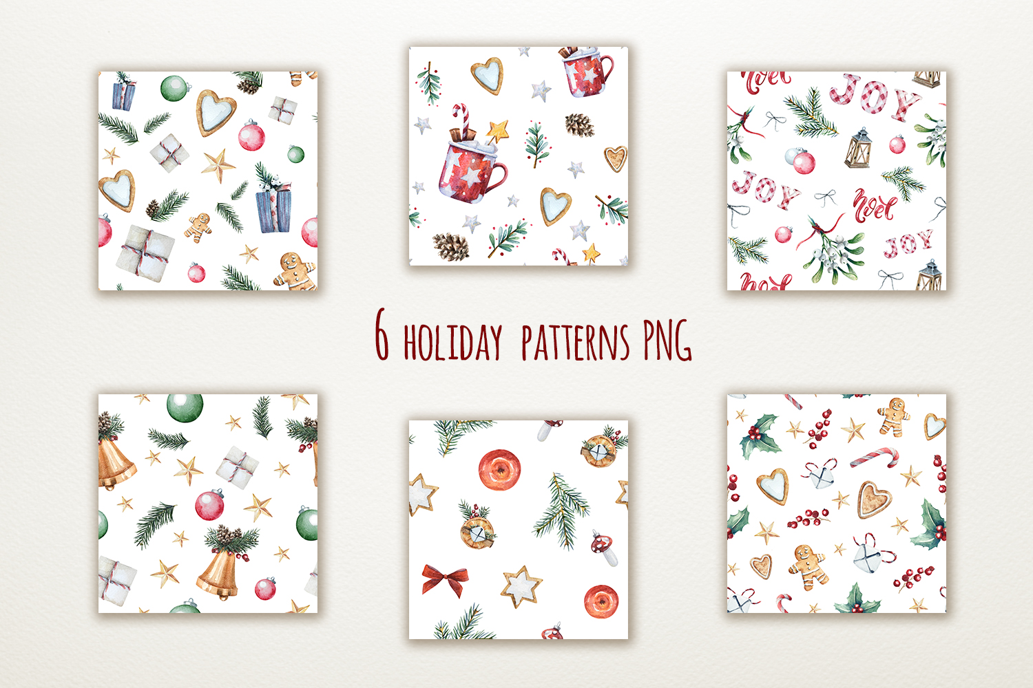 Magic Christmas set. Watercolor clipart collection example image 4