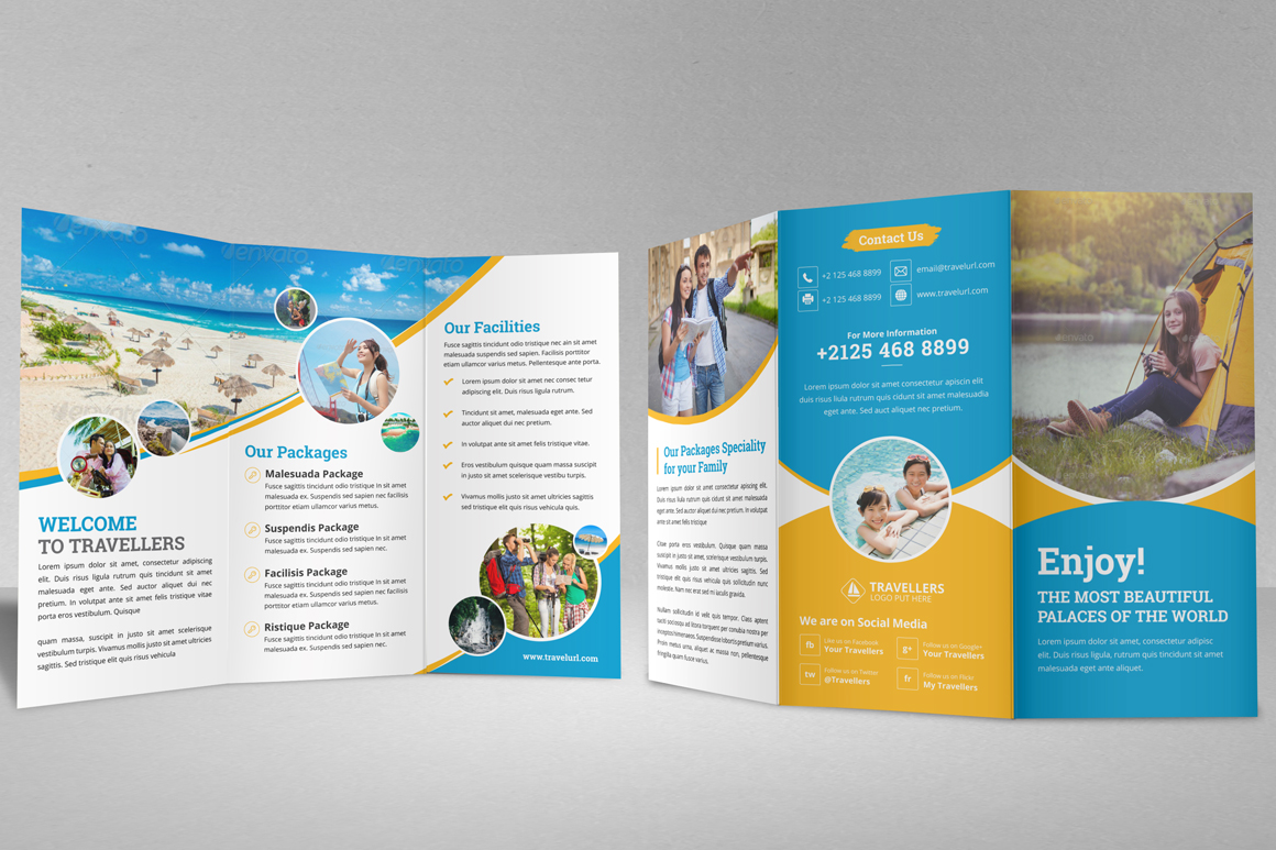 Holiday Travel Bifold & Trifold Brochure v2 example image 10