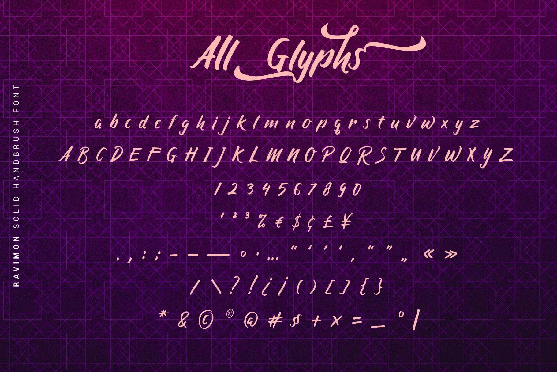 Ravimon - Solid Handbrush Font example image 4