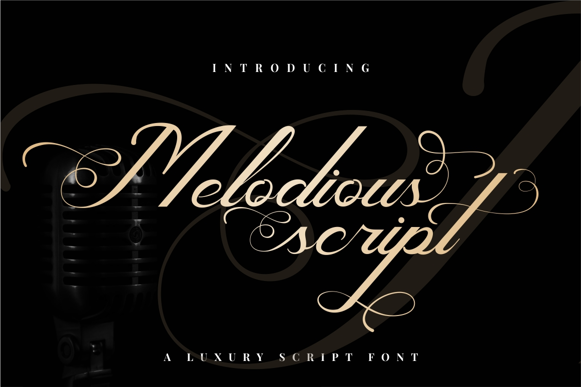 Melodious Script example image 1