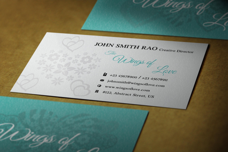 Elegant wedding photographer Business cards example image 2