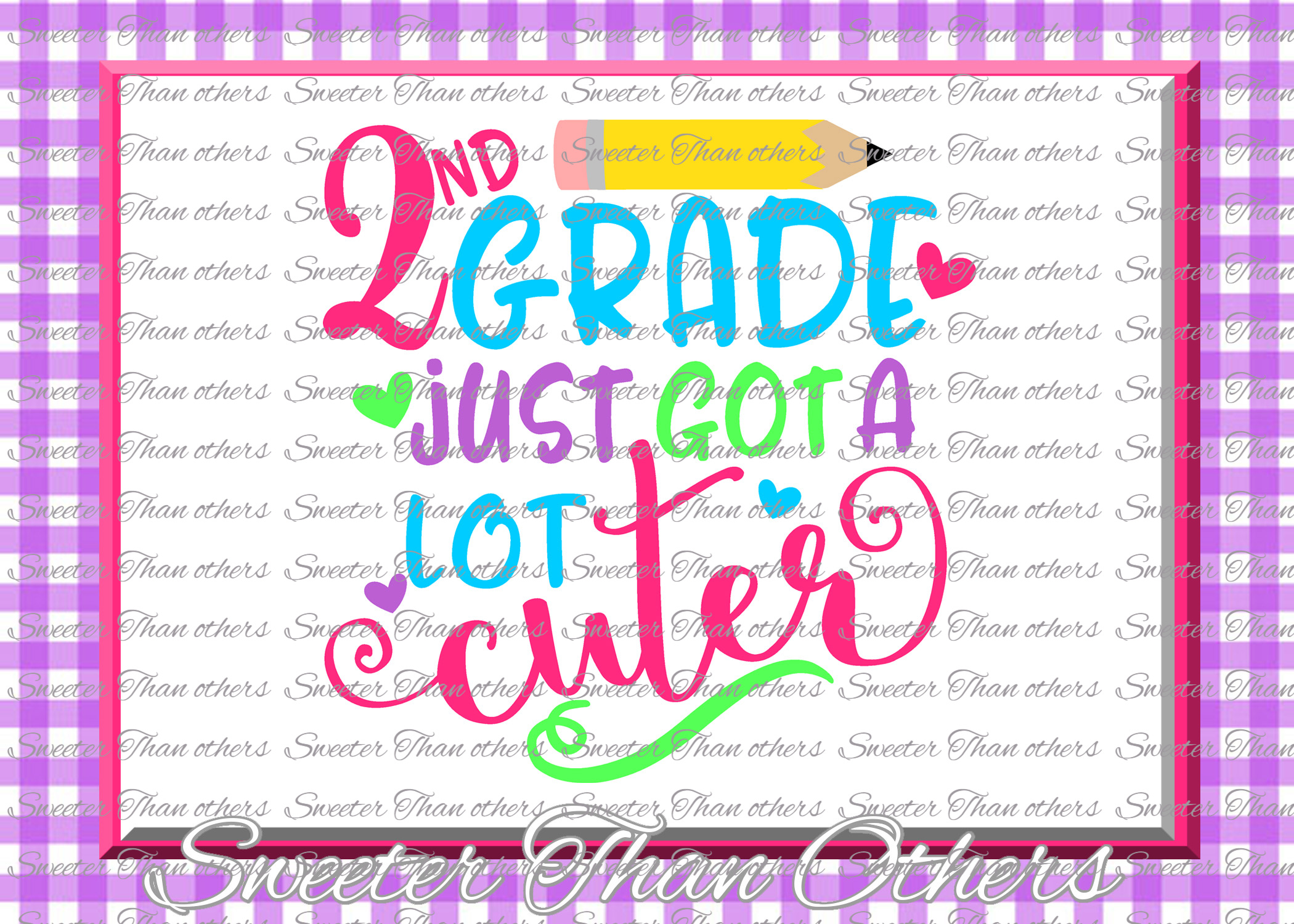 Second Grade Cuter SVG 2nd Grade cut file example image 1